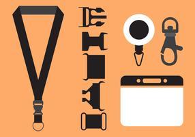 Vector Set of Lanyard Accessories