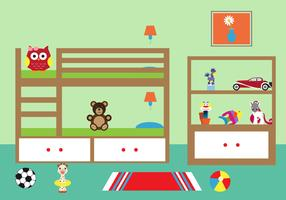 Vector Illustration of a Chlid's Room