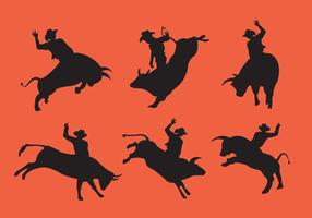Bull Rider Silhouettes