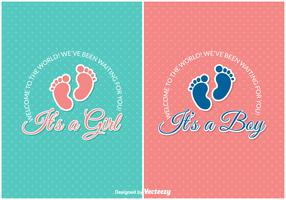 Free Baby Arrival Vector Cards