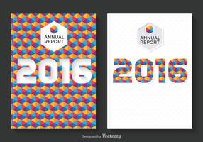 Free Annual Report Design Vector
