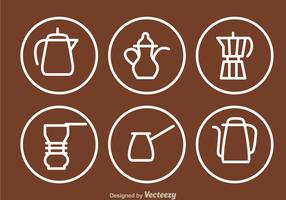 Coffee Pot Outline Icons