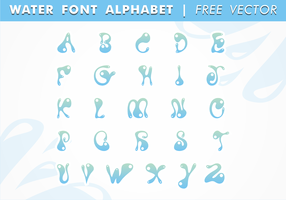 Water Font Alphabet Free Vector