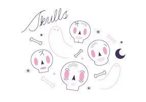 Free Skulls Vector