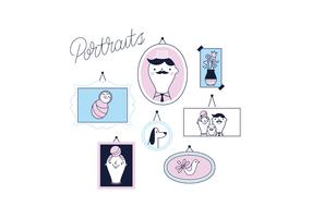 Free Portraits Vector