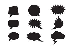 Free Speech Clouds Shapes Vector