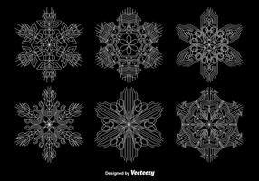Ornamental Geometric Snowflakes