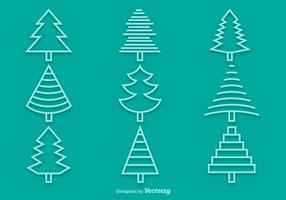 Line pine icons
