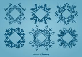 Decorative snowflake-shaped frames