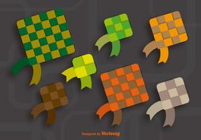 Colorful ketupat icons