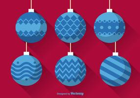 Flat christmas balls