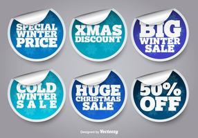Winter sale stickers