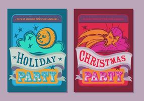 Free Christmas Party Poster Vector