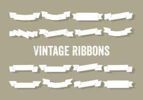 Free Set of Vintage Ribbons Vector Background