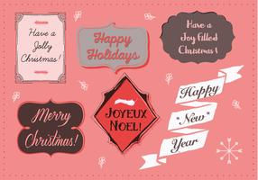 Free Christmas Background Illustration with Typography