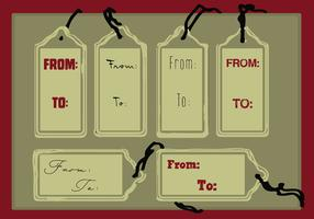 Free Set of Tags Vector