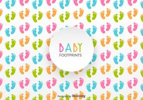 Free Baby Footprints Vector Pattern