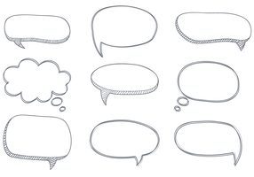 Free Sketchy Dialogue Bubbles Vector