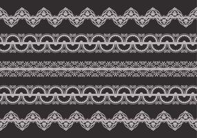 Retro Lace Trim Vector