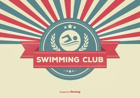 Swimming Club Retro Illustration