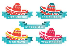 Cute Mexican Hat Label Set