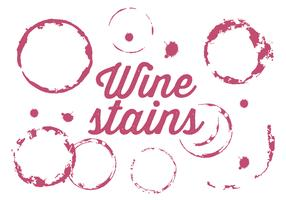 Vector Set of Wine Stains