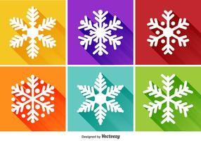 Snowflakes Flat Icons