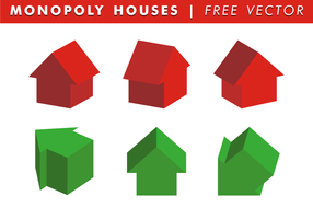 Monopoly Houses Free Vector
