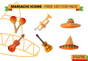 Mariachi Icons Free Vector Pack