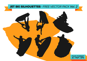 Jet Ski Silhouettes Free Vector Pack Vol. 2