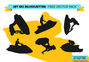 Jet Ski Silhouettes Free Vector Pack