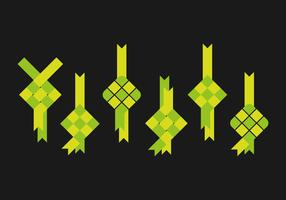 Simple Ketupat Vectors