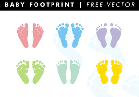 Baby Footprints Free Vector