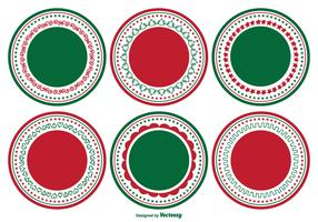 Decorative Blank Christmas Label Set