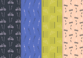 Free School Pattern Vector