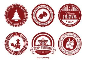 Assorted Christmas Badge Set