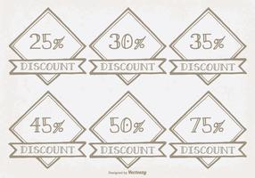 Hand Drawn Discount Labels