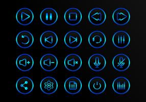 Buttons Multimedia Vector Icons