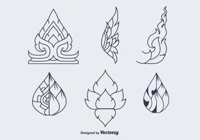 Free Thai Pattern Vector Icons