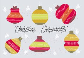 Free Christmas Ornametns Vector Background