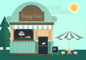 Cake Shop Vector Illustration