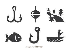 Fishing Gray Icons