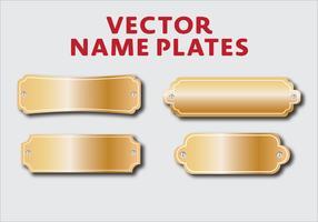 Vector Name Plates