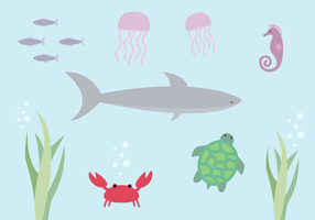 Free Aquatic Life Vector