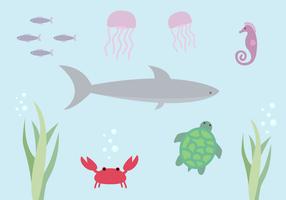 Free Aquatic Life Vector