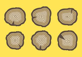 Free Tree Rings Vector Illustration #7