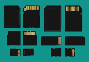 Memory Card Types Vector