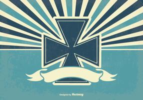 Retro Maltese Cross Illustration