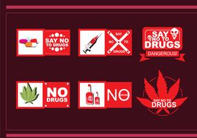 No Drug Vector Badges