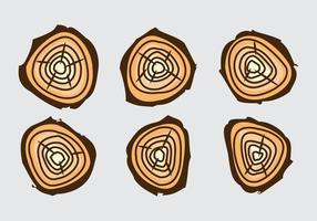 Free Tree Rings Vector Illustration #17